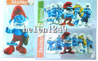 Wholesale Home Decoration cartoon The Smurfs furniture Stickers Decals sticking paper