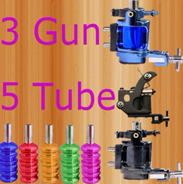 Wholesale Super Guns Tattoo Kit Rotary Machine Regular Machine amp Colorful Grips With Tubes