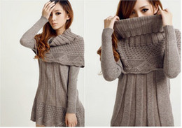 Wholesale winter women long sleeve dress Shawl collar color available