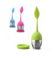 Wholesale 100pc stainless steel Silicone tea bag strainer infuser tea dipper tea filtre tea tool
