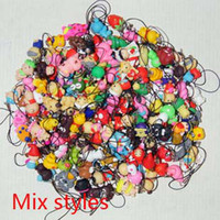 Wholesale Mix Styles Handmade Soft Pottery Clay Pendants Mobile Phone Chain Key Chians Pendant