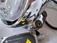 Wholesale Motorcycle headlight assembly Kits with Bi Xenon HID Projector Lens LED Angle Eyes
