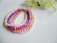 Wholesale pet pearl colorful necklace dog cat accessories pet product Set with diamonds new style