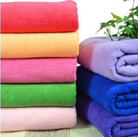 Wholesale 30 CM Microfiber towel Absorbent Washcloth car cleaning towels Hand Hair Towel Gym Drying Towel