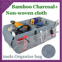 Wholesale Car Boot Tidy Tools Organize Bag Auto Storage Box Organiser made of Bamboo Charcoal Fabric