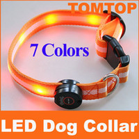 Wholesale Mix order Colors LED Dog Pet colorful Light Flashing Safety Collar Tag H4488