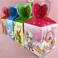 Wholesale Xmas Christmas Candy Gift Boxes Birthday Party Gifts Holder New Year Festival DIY Paper Boxes