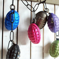 Novelty Grenade Style coin wallet key purse Pouch Bag 10pcs ...