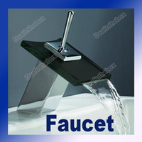 Wholesale Square Waterfall Glass Mixer Tap Faucet Tap Kitchen Basin Bathroom Vanity Sink