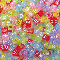 Wholesale Cube Alphabet Acrylic Beads mm Colorful White JF9045 Free Shippping