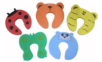 Safety Gates   New 5x Baby Safety Finger Pinch Guard Door Stopper Baby safety products gate card Animal model