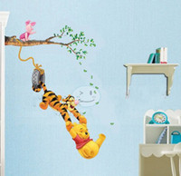 Wholesale 5pcs Retro P amp S Wall Stickers Winnie the Pooh amp Tigger Art Wall Paper Sticker Decal toy2011