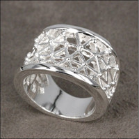 Wholesale Hot new silver jewelry fashion rings hollow piece