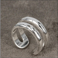 Wholesale Hot new silver ring opening line piece
