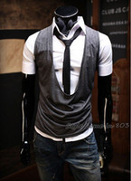 Wholesale hao_bag Men s Vests Mens Vest New South Korean Hot Style Mens Casual Vest Cotton Sports