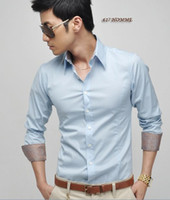 Casual Men Cotton 1pcs lot new fashion men silk fabric lining design long sleeve shirts 0782 4 colors