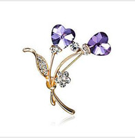 Wholesale The new fund zircon brooch crystal diamond brooch plum blossom brooch brooch