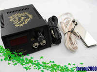 Wholesale Hot LED Tattoo Power Supply System With Plug FootSwitch Clip Cord For Machine Gun Kit Supply