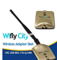 Wholesale 2pcs LAN card G wifi decoder USB b g adaptor wifly city wireless wifi receiver