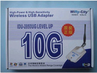 Cheap 10pcs lot 10G 1000mw Wireless WIFI USB adapter wifly-city 802.11b g IDU-2850UG wireless adapters