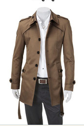 Wholesale Top material New fashion Men s Dignity trench Coat dust coat Colors