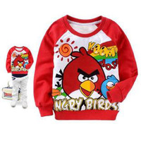 Wholesale Cosplay Birds Children s outerwears Sweatshirts winter fleece long sleeved sweater