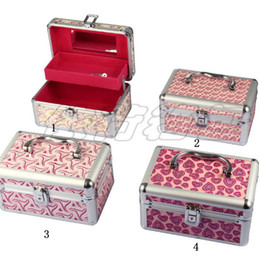 Wholesale 4pcs Color Option Cosmetic Case Make Up Case cosmetic Train Case round A
