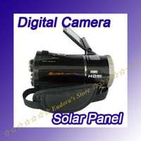 Wholesale newest HDV T92 X Digital Video Camcorder inch Dual solar Panel battery digital camera in box