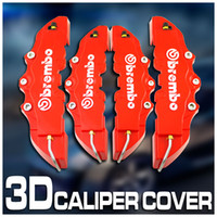 Wholesale 4Pcs Red Brembo Look D Brake Caliper Cover SET Front Rear gift
