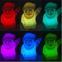 Wholesale LED Santa Claus Night Light Changed Color Light Home Decoration For Christmas