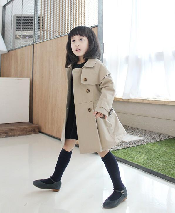 Children Winter Clothes Baby Girls Double-breasted Overcoat ...