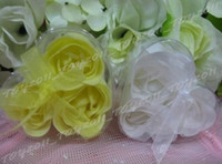 Wholesale 3in1 Heart Box Scented Rose Flower Soap amp Lace Natural Material Valentine s Day gift toy2011 boxes