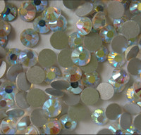 Wholesale bags ss12 mm DMC flatback nail art rhinestone crysatal AB color
