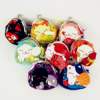 Wholesale HOT Japanese Lucky Cat Coin Purse Purse Wallet Coin Bag Key Bag coin pouch gift
