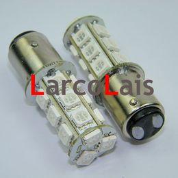 10pcs Amber 1157 BAY15D 18 SMD 5050 LED Light Car Turn Brake Reverse Tail Rear Signal Lights Bulb