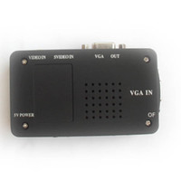 Wholesale NEW video AV TV to PC VGA signal converter adapter video swtich box TV to PC adapter