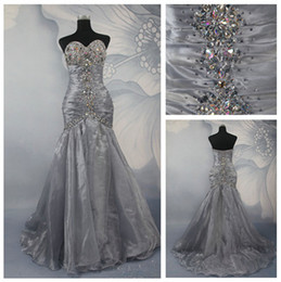 Wholesale Elegant DH Top Seller Sweetheart Mermaid Evening Dresses Beaded Ruffle Prom Dresses Gowns