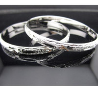 Wholesale hot sell Women s Carved Bracelet k White Gold Filled Lady s Bangle mm Width mm
