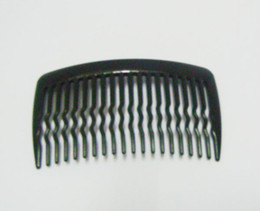 Wholesale 200pcs Clear amp Black Mini Tooth Comb Plastic Styling Hair Combs per pack Free Ship