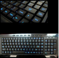Wholesale USB2 Multimedia LED Illuminated USB Keyboard for pc computer Notebook laptop