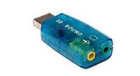 Wholesale USB External D Sound Card Apapter For PC Laptop Blue Green Brown Colors