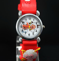 Wholesale red Pleasant cartoon watch Card cartoon child pointer to watch Children s birthday gift bhuy5