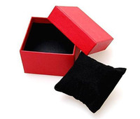 Wholesale 10Pcs Paper Watch Box with Soft pillow Paper Gift Boxes Case For Bangle Jewelry or Watch colors