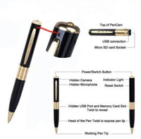 Wholesale MINI SPY PEN HIDDEN CAMERA Micro Digital Cam WebCam DV DVR DC Video Recorder Camcorder Recording Pen