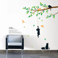 Wholesale Tree with Cat Adhesive Art Wall STICKER Removable Decal
