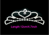Crown Rhinestone/Crystal  Silver crystals rhinestones bridal crown wedding tiaras hair accessory H02