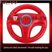 Wholesale Price Discount New Red Mario Kart Steering Wheel Controller For WII