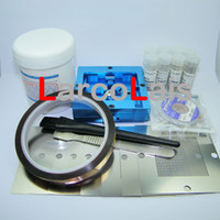 Paste bga stencils - BGA Reballing Rework Reball Station Repair Kits Contain universal Stencils solder ball and paste
