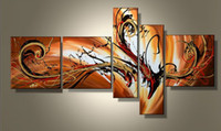 More Panel Oil Painting Abstract 100% hand painted abstract 5 piece painting wall art canvas home decoration com5435