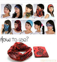 Wholesale 100 Polyester Multifunctional bandana biker seamless scarf kinds in stock adult size